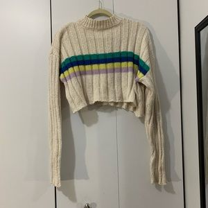 Knitted crop top sweater